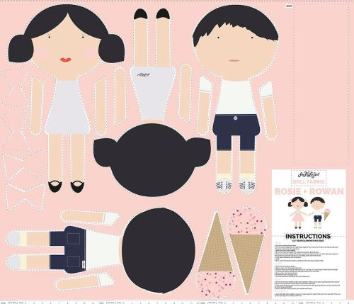 Riley Blake Cut out and make Dolls Panel