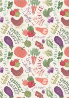Lewis and Irene Fabric Club May 2017 Farmer's Market £29*(Pre-Order Dispatch Approx 1st May 2017)