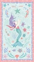 Mermaid Dreams by Studio E Fabrics - Mermaid Panel