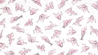 Ballet shoes by Timeless Treasures Fabrics CYBYY in Pink