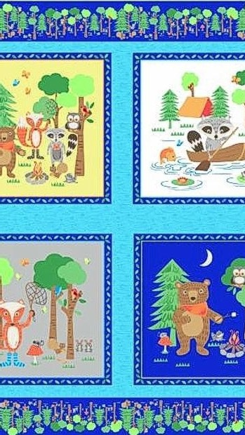 Blank Quilting Camping Club Panel- BL8370P-77