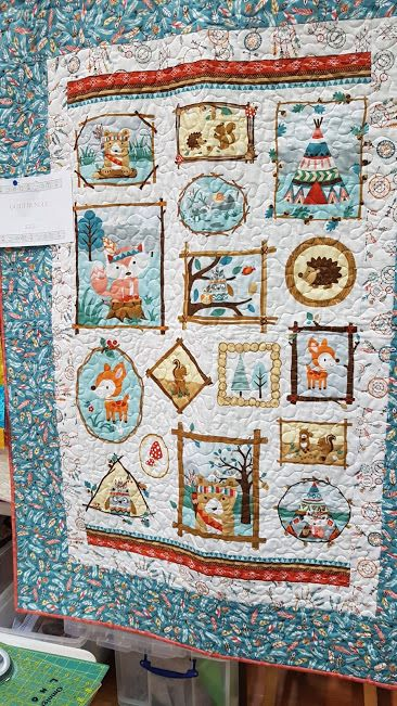 camping critters quilt