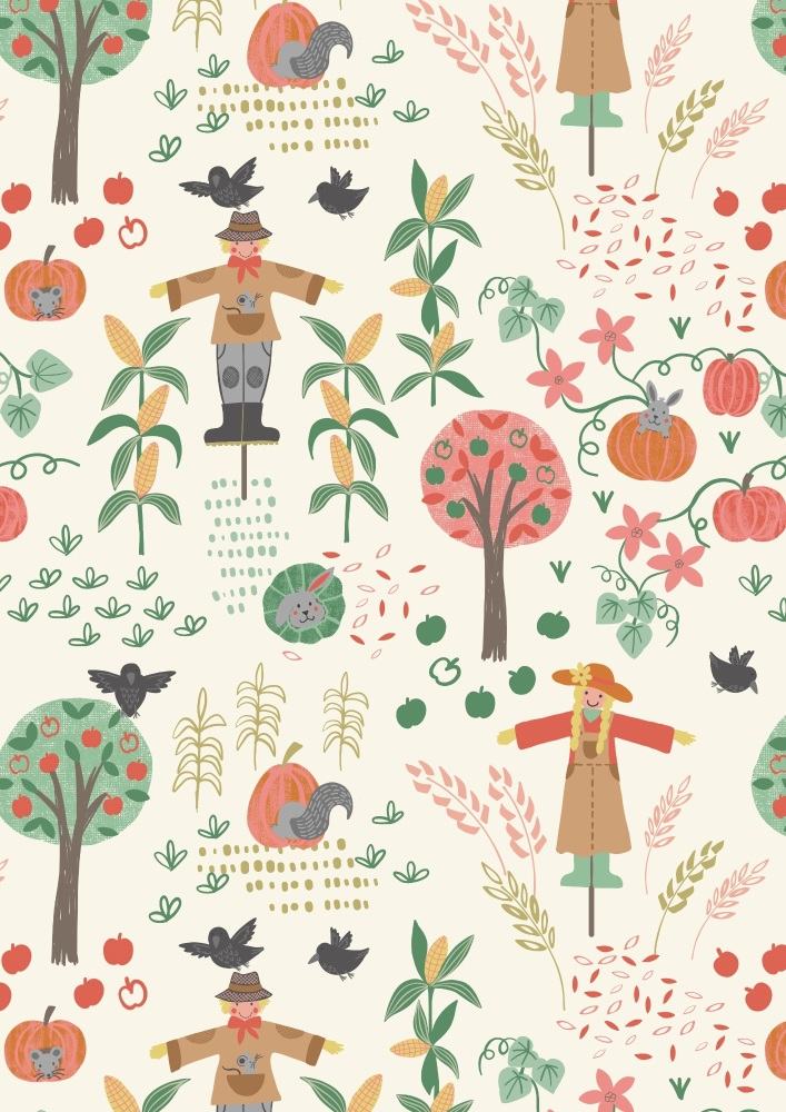 A296.1 Scarecrow acres on cream