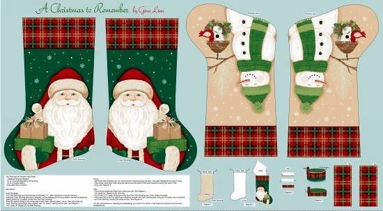 A christmas to remember stocking panel