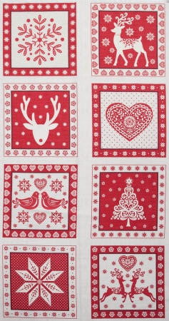 Scandi christmas square panel