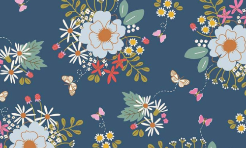 Wild Bouquet - 7470 Navy