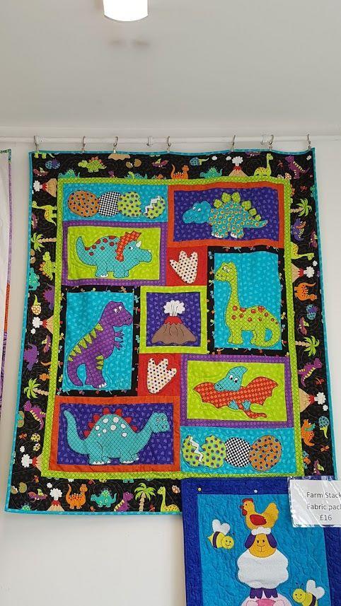 dino blanket stitch