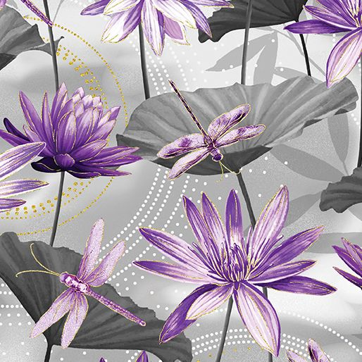 Kanvas Studio 8 499m-11 Waterlily Pool Grey
