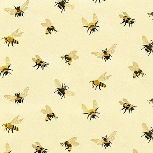 Studio E 4781M-44 All Over Bees Cream