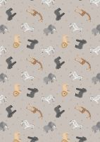 Sm24.1 African animals on soft elephant grey
