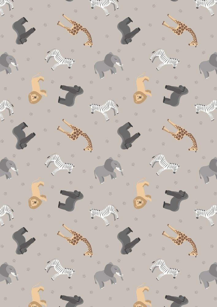 Sm24.1 African animals on soft grey