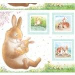 Michael Miller Honey Bunny Hug a bunny Panel