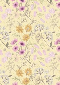 Botanic Garden Floral on pale yellow A457.2