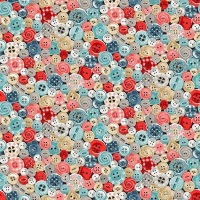 Makower Stitch in Time - Buttons 2136- last half meter available
