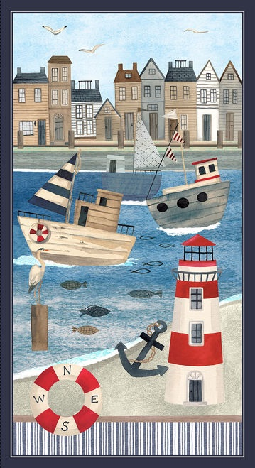 Blank Quilting- Harbour Days Panel