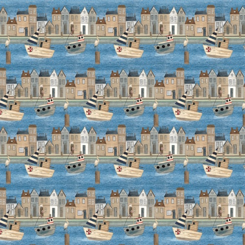 Blank Quilting- Harbour Days Blue Port Town