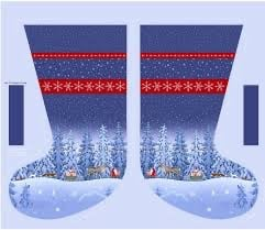 Lewis & Irene Tomtens Christmas Stocking Panel
