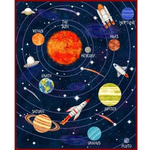 Blank Quilting- Lost in Space Panel