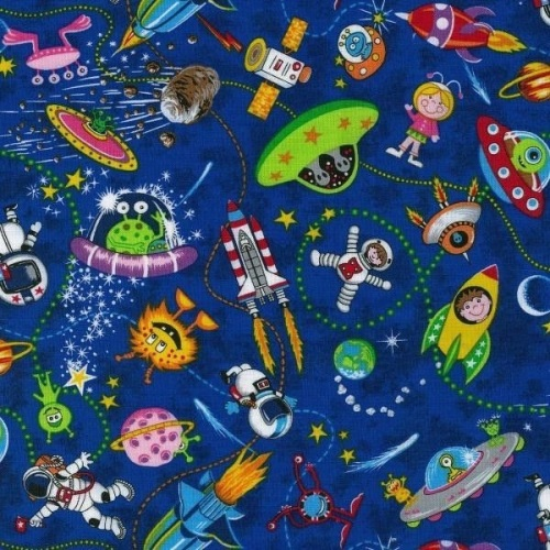 Nutex Lost in Space Aliens on Blue