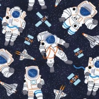 Timeless Treasures - Space C5120 Navy