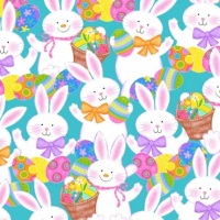 Studio E - Spring has Sprung - Bunnies  on Blue 3901