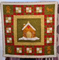 Gingerbread Christmas Quilt - Own Fabric Option