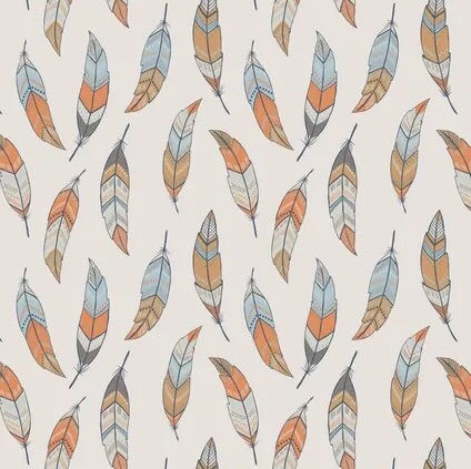 Lewis and Irene- To Catch a Dream - Feathers on Beige A174
