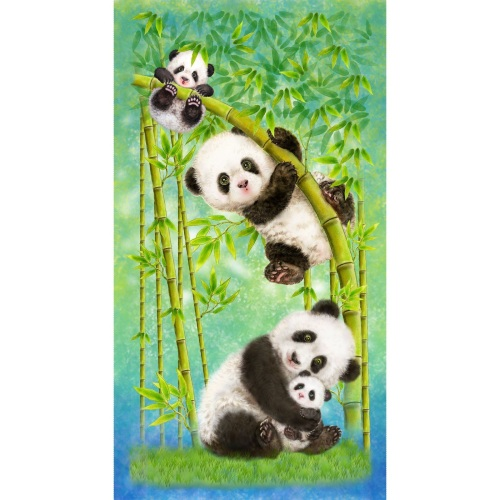 Studio E - Panda Sanctuary Digital Print Panel