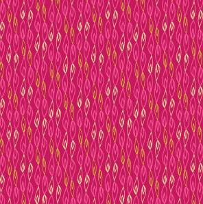 Makower Sundance by Beth Studley - Flame Stripe Pink 1927 - by the half met