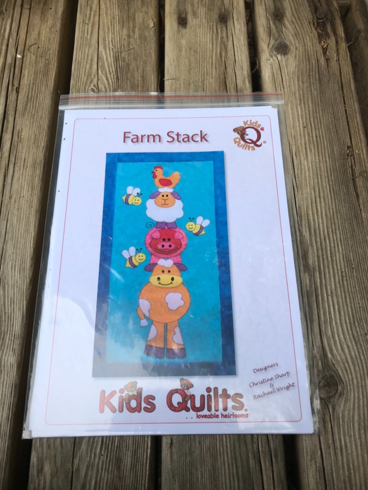 Kids Quilts - Farm Stack Wall Hanging pattern