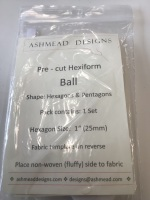 Pre cut Hexiform- Ball - hexagons and pentagons pack contains 1 set - hexagon size 1 inch