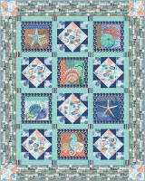 Coastal Dream Fabric Kit Includes panel and fabric inc binding to make quilt
