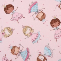 Timeless Treasures - Pale Pink Princess Fabric - LAST  3 x1/2 Meter should be £8 now £5.00