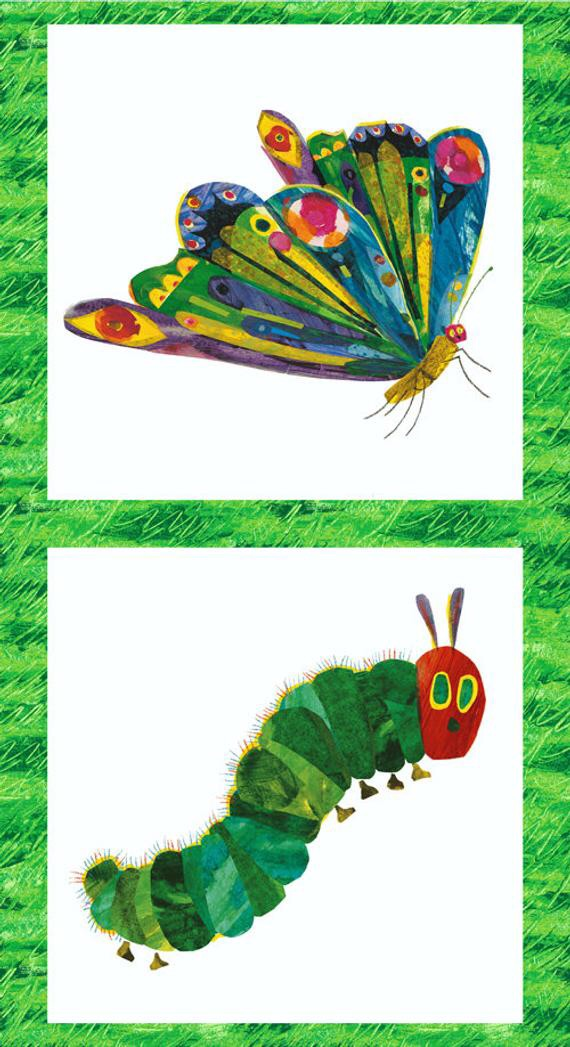 Eric Carle- The Very Hungry Caterpiller and Butterfly panel LAST ONE