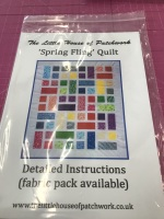 Spring Fling Quilt Pattern on its own . No fabric included