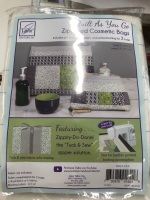 Zippered Cosmetic bags with Zippety Do Done zip solution with grey zip