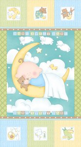 Sweet Pea by Studio E - Quilt Panel Blue