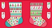 Festive Novelty Stocking Panel 2015