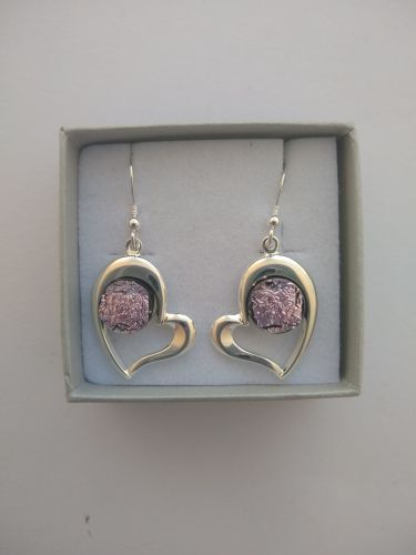 Pink Heart Ear-rings