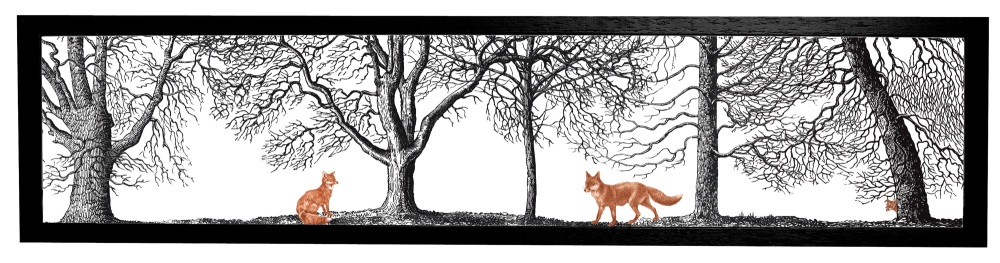 Foxes Print Cut Out 1