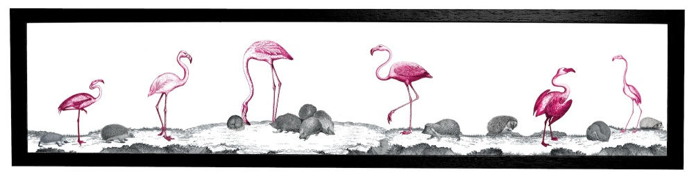 Flamingos Print Cut Out