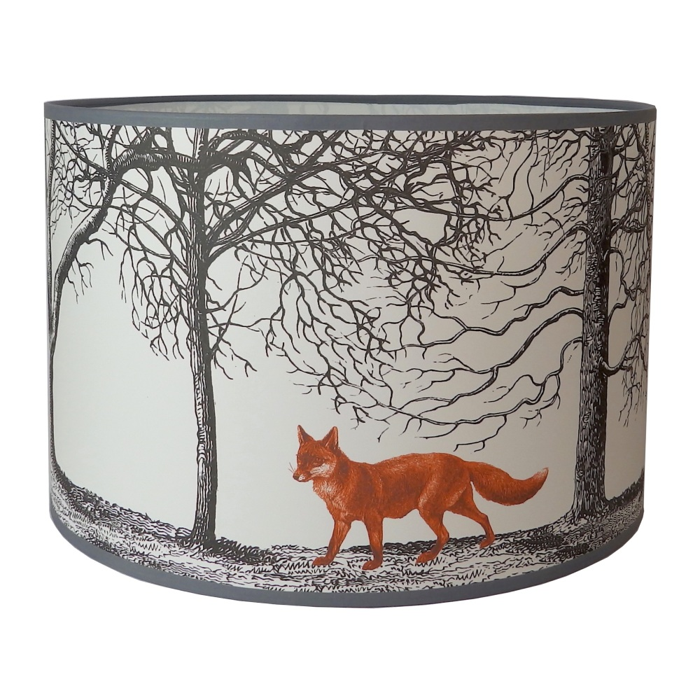 Into the Woods - Foxes Lampshade - Sample