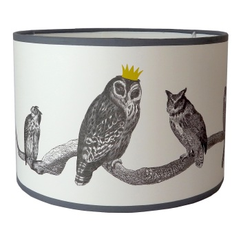 Parliament is in Session - Owls Lampshade - Sample