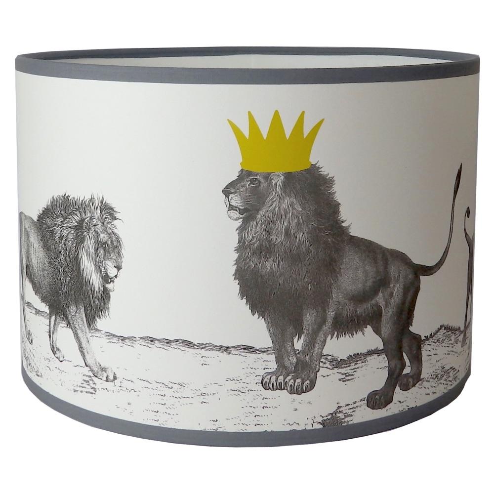 Pride of Lions Lampshade - Sample