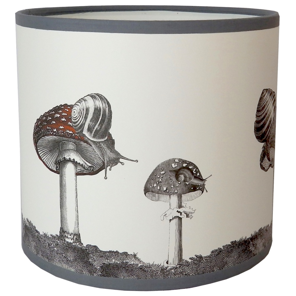 Snails And Mushroom Lampshade - Sample