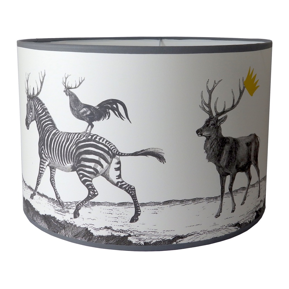 Stag Night Lampshade - Sample