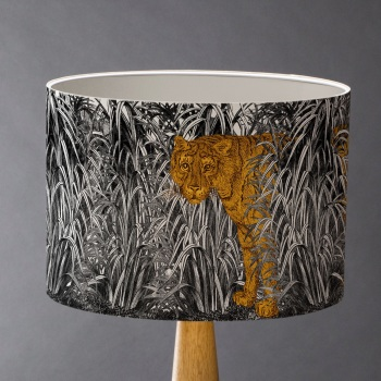 Burning Bright! - Tiger Lampshade