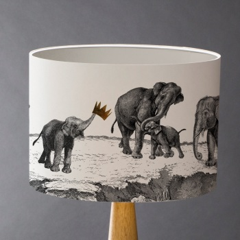 Elephants Lampshade