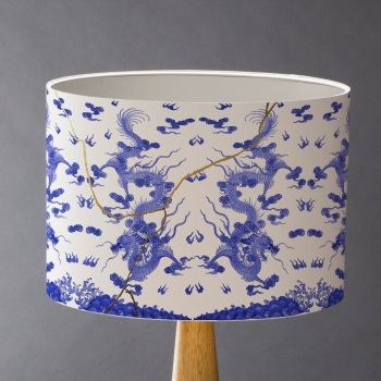 Japanese Dragon Kintsugi Lampshade