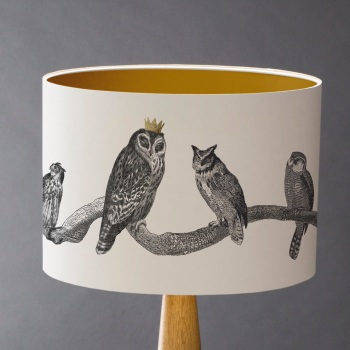 Parliament is in Session - Owls Lampshade